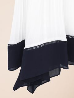 Pleated cascading dress