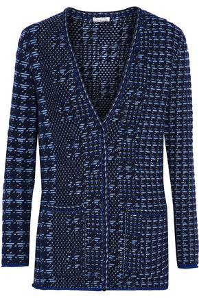 OSCAR DE LA RENTA Wool-jacquard cardigan