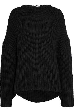OSCAR DE LA RENTA Open-knit wool sweater