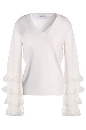 DEREK LAM 10 CROSBY Tiered wool-blend sweater