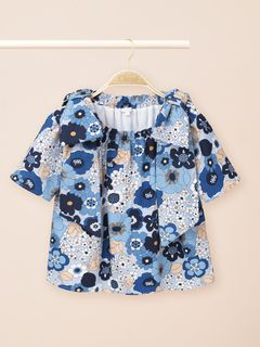 Flower-print blouse