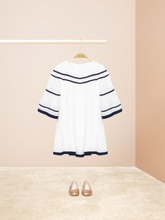 Bell-sleeved dress