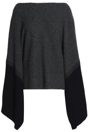 AMANDA WAKELEY Draped two-tone wool sweater