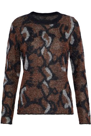 BY MALENE BIRGER Bioncy metallic intarsia-knit sweater