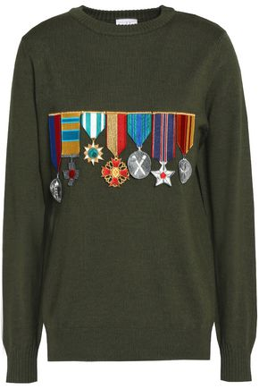 STELLA JEAN Embroidered virgin wool sweater