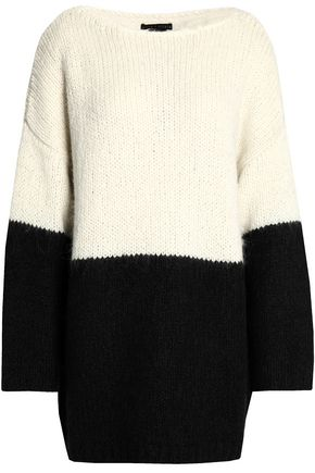 ALICE + OLIVIA Marty two-tone alpaca and silk-blend sweater