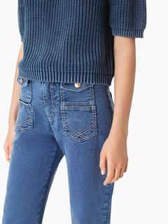 Flared denim jeans