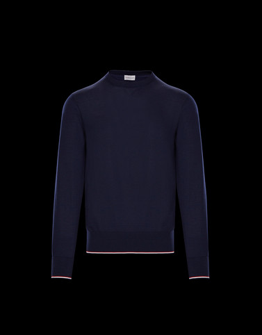 CREWNECK Dark blue Knitwear & Sweatshirts