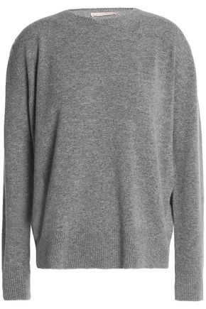 CHRISTOPHER KANE Metallic-trimmed mélange wool-blend sweater