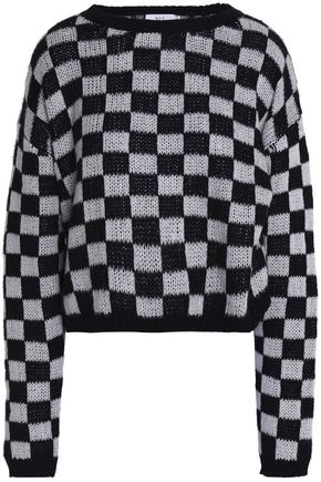A.L.C. Checked cotton-blend sweater