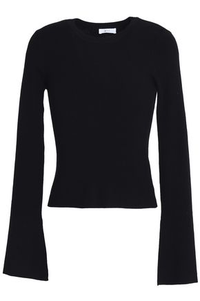 A.L.C. Ribbed-knit merino wool-blend sweater