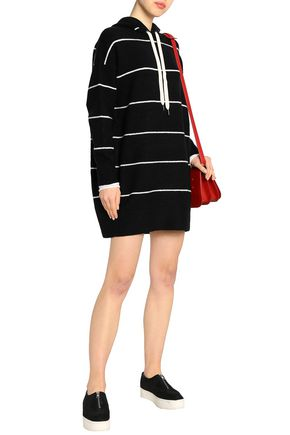 ALICE + OLIVIA Riva striped knitted hooded tunic