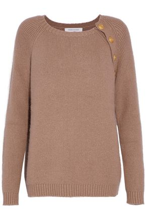 WOMAN BUTTON-DETAILED KNITTED SWEATER SAND