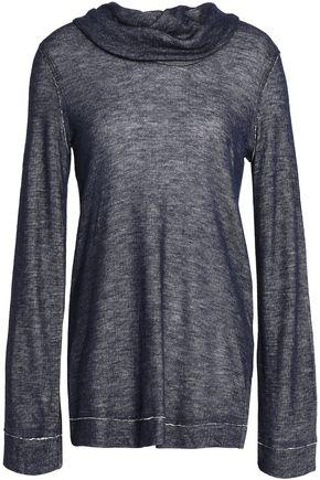 SPLENDID Draped mélange jersey top