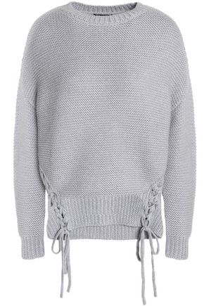 RAOUL Lace-up merino wool sweater