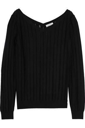 NINA RICCI Ribbed wool and silk-blend sweater