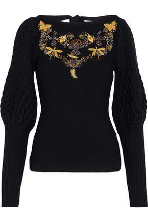 SACHIN & BABI Amin embellished cable-knit wool sweater
