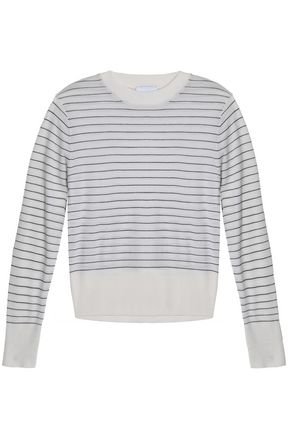 DKNY Striped merino wool sweater