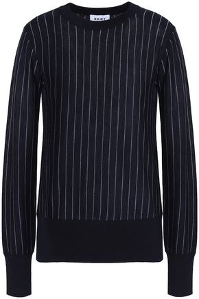DKNY Pinstriped merino-wool sweater