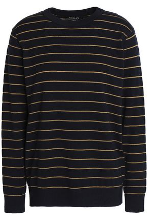 DKNY Striped knitted top
