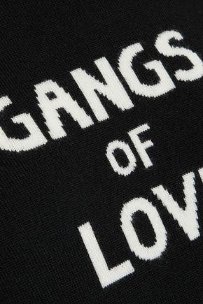 J BRAND Intarsia-knit merino wool sweater
