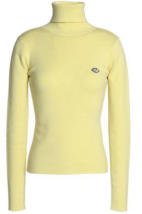SEE BY CHLOÉ Appliquéd cotton-blend turtleneck sweater