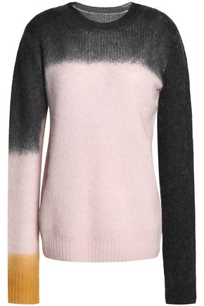 SEE BY CHLOÉ Dégrade color-block ribbed-knit sweater