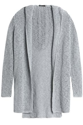 JAMES PERSE Open-knit cotton and linen-blend hooded cardigan