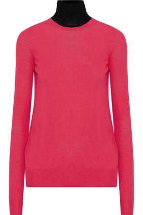 PROENZA SCHOULER Two-tone merino wool turtleneck sweater