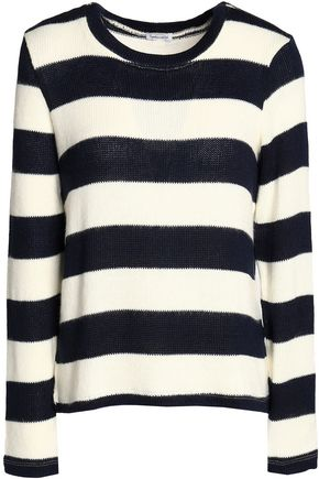 SPLENDID Striped intarsia-knit sweater