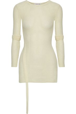 HELMUT LANG Ruched open-knit top