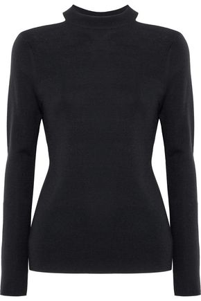 ELIE TAHARI Cold-shoulder merino wool sweater