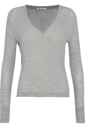 T by ALEXANDER WANG Mélange ribbed wool top