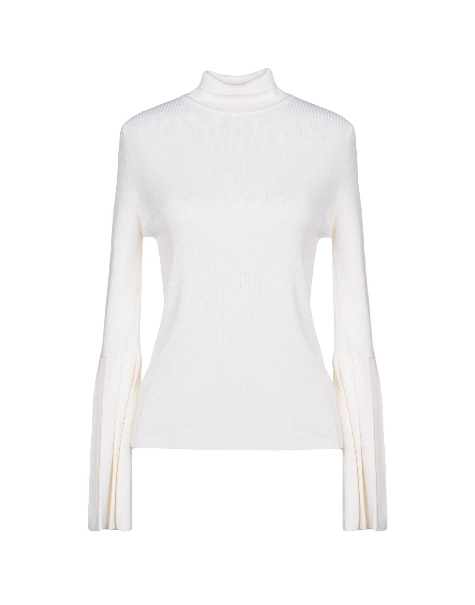 BLUMARINE Damen Rollkragenpullover Farbe Weiß Größe 6