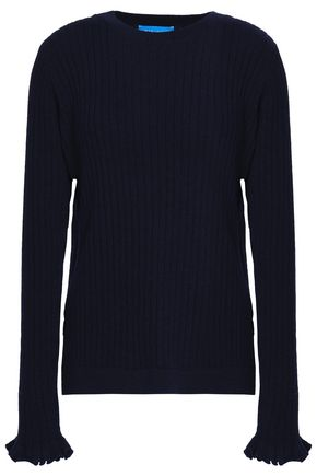M.I.H JEANS Ribbed cashmere and merino wool-blend sweater