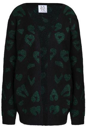 ZOE KARSSEN Metallic jacquard-knit cardigan