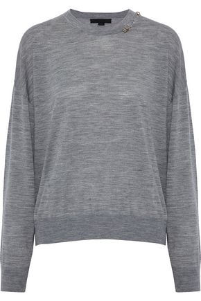ALEXANDER WANG Cutout embellished merino wool sweater