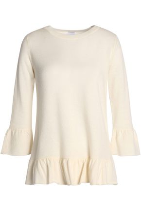 MADELEINE THOMPSON Ruffle-trimmed wool and cashmere-blend sweater