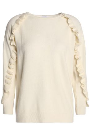 MADELEINE THOMPSON Thilia ruffle-trimmed wool and cashmere-blend sweater