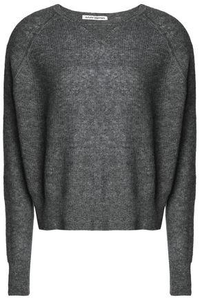 AUTUMN CASHMERE Marled cashmere and silk-blend sweater