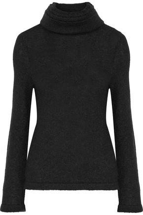 BRANDON MAXWELL Layered stretch-knit turtleneck sweater