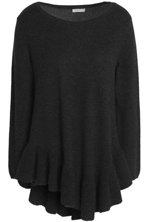 JOIE Ruffled wool and cashmere-blend sweater