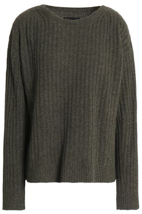 NILI LOTAN Baxter distressed ribbed cashmere sweater