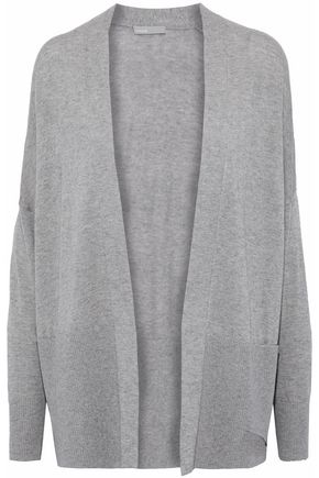 VINCE. Ribbed silk and cashmere-blend cardigan