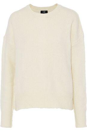 LINE Harper lace-up crochet-knit cotton-blend sweater