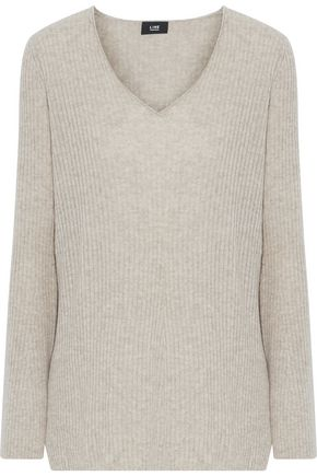 Ines Ribbed Mélange Cashmere Sweater by Line