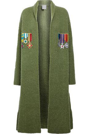 STELLA JEAN Appliquéd ribbed-knit cardigan