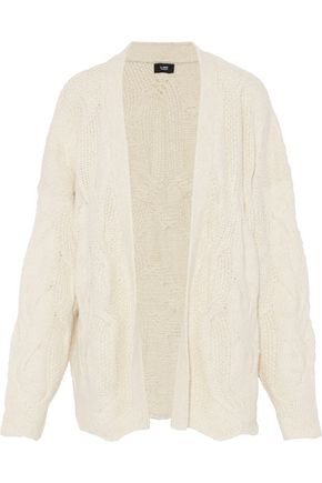 LINE Cable-knit cotton-blend cardigan