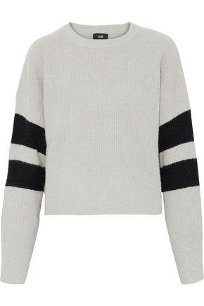 LINE Intarsia bouclé-knit sweater