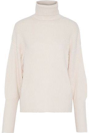 Ribbed Knit Turtleneck Sweater by Line